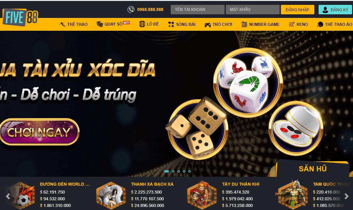 Five88 | Nhà cái Five88 cá cược bóng đá, casino Online uy tín Châu Á